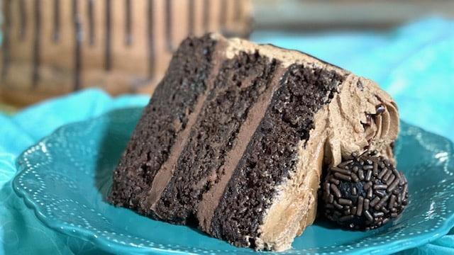 triple chocolate ganache cake