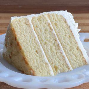 Vanilla Almond Cake Slice