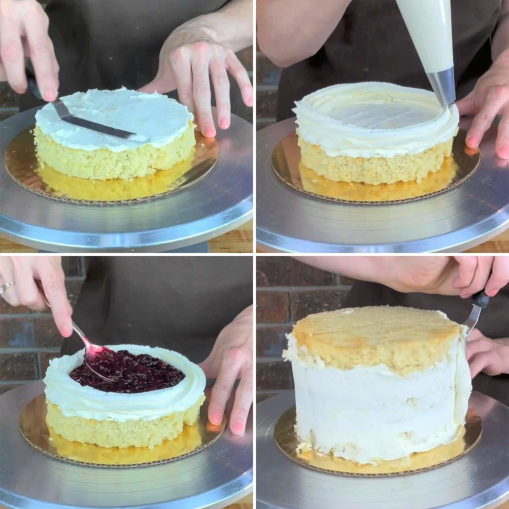 How to fill a cake with berry compote