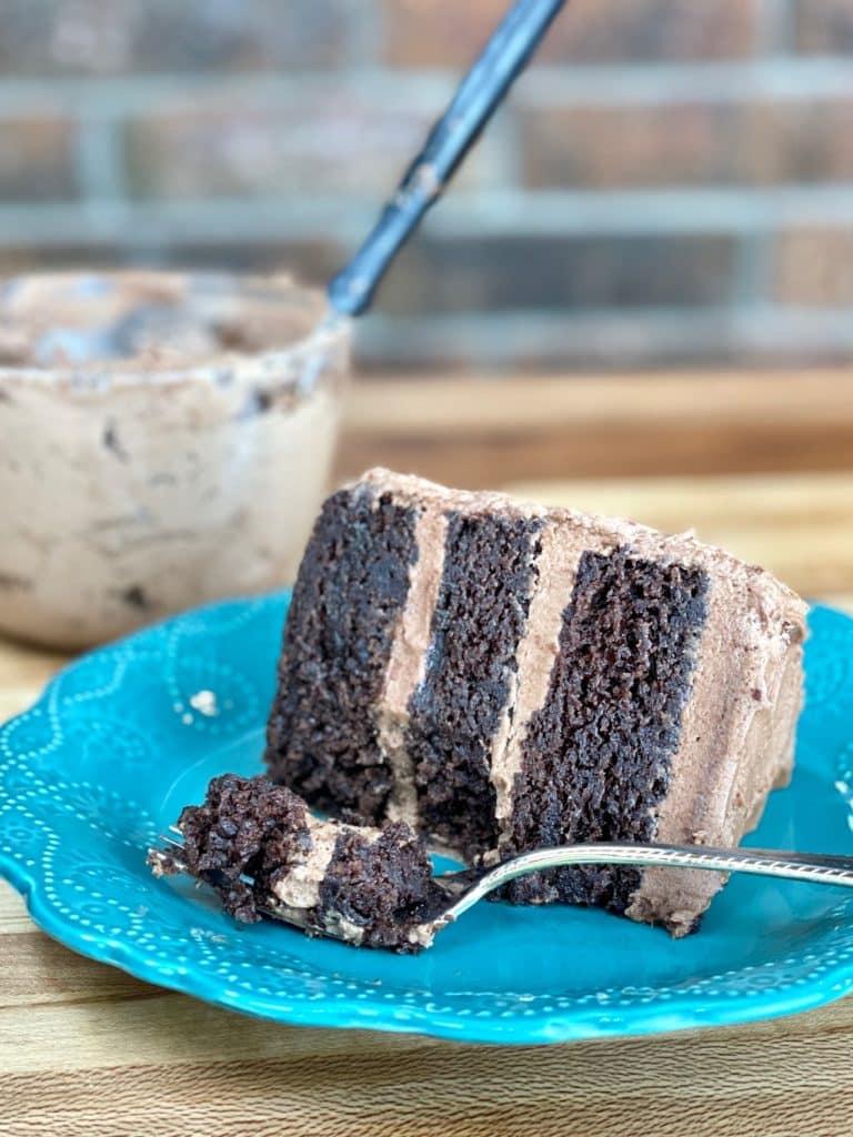 Ultra Moist Double Chocolate Cake Slice